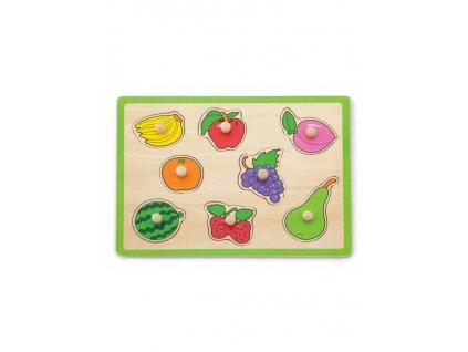 Detské drevené puzzle s úchytmi Viga Ovocie
