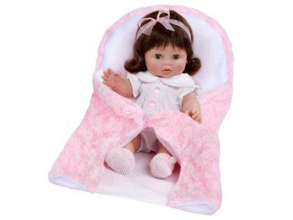Luxusná detská bábika-bábätko Berbesa Magdalena 35cm