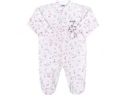 Dojčenský overal New Baby Magic Star ružový