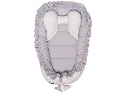 Luxusné hniezdočko pre bábätko Králiček Belisima bielo-sivé