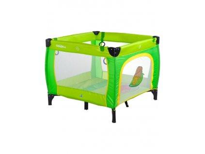 Detská skladacia ohrádka CARETERO Quadra green