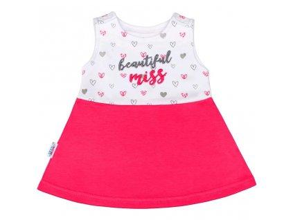 Dojčenské šaty bez rukávov New Baby ružové