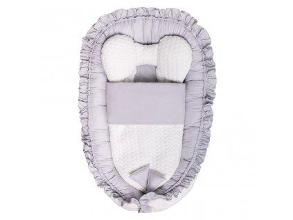 Luxusné hniezdočko s perinkou pre bábätko Králiček Belisima sivé