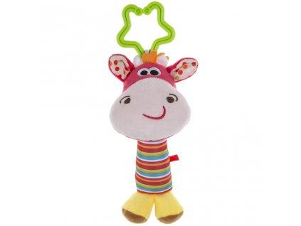 Plyšová hračka s hrkálkou Akuku jelen
