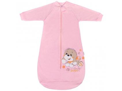 Dojčenský spací vak New Baby psík ružový