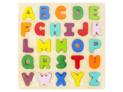 Detské drevené puzzle Baby Mix Písmená