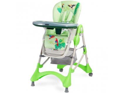 Jedálenská stolička CARETERO Magnus New green