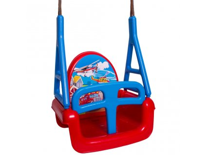 Detská hojdačka 3v1 car Swing red