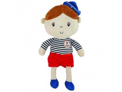 Edukačná plyšová bábika Baby Mix námorník chlapec