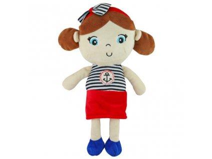 Edukačná plyšová bábika Baby Mix námorník dievča
