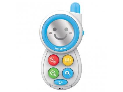 Detská hračka so zvukom Baby Mix Telefónik modrý