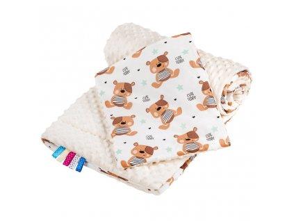 Obojstranný Set z Minky do kočíka New Baby teddy béžový