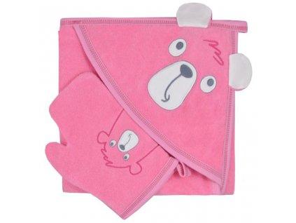 Detská osuška s žinkou Koala Yogi pink