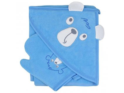 Detská osuška s žinkou Koala Yogi blue