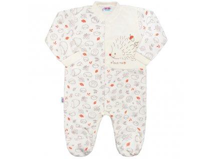 bba319e6a147 Dojčenský bavlnený overal New Baby Hedgehog béžový