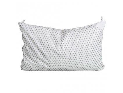 Obliečka na vankúš biela s hviezdičkami - 60x40 cm
