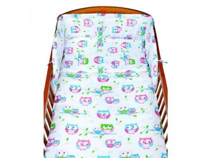 2-dielne posteľné obliečky New Baby 90/120 cm biele so sovou