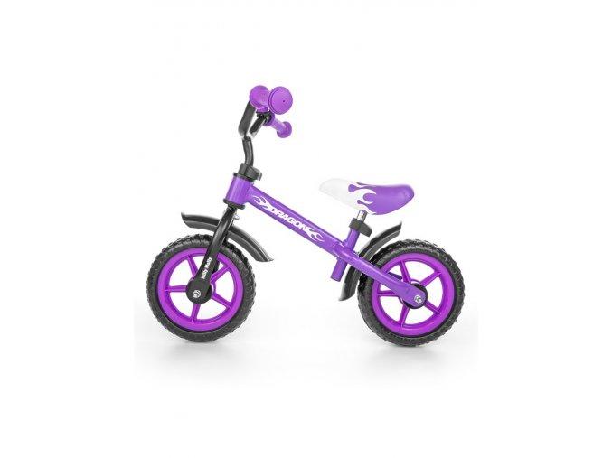 Detské odrážadlo kolo Milly Mally Dragon purple