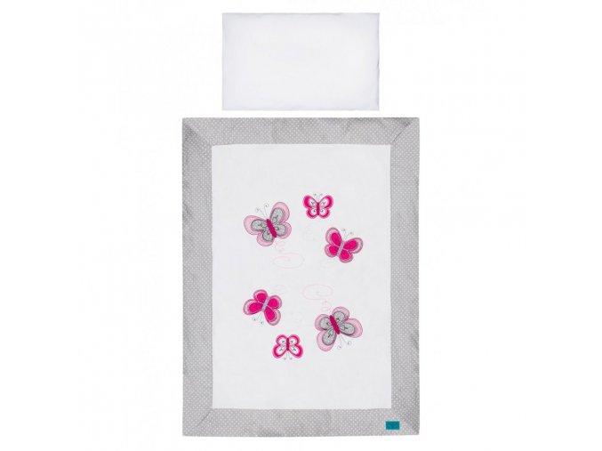 6-dielne posteľné obliečky Belisima Motýlik 100/135 šedé