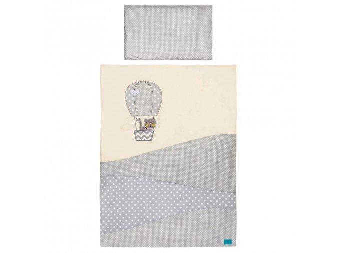 5-dielne posteľné obliečky Belisima Balón 100x135 bežové