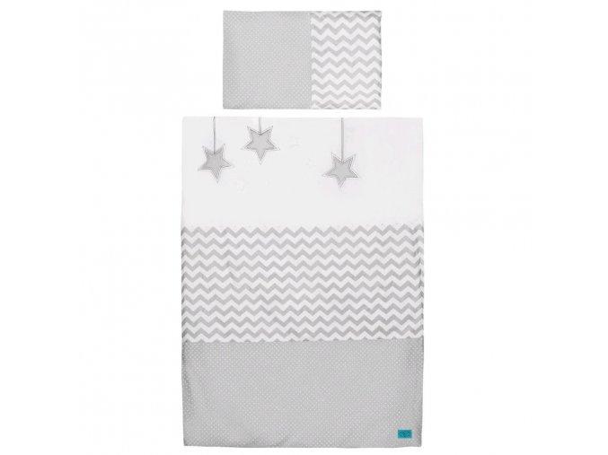 6-dielne posteľné obliečky Belisima Hviezdička 90/120 šedé