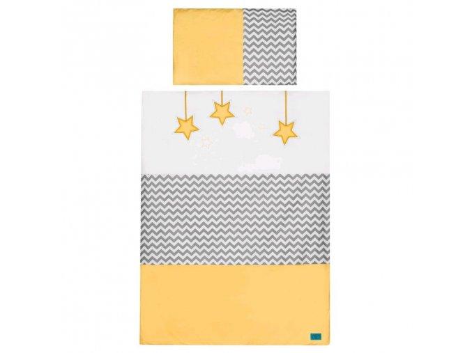 5-dielne posteľné obliečky Belisima Hviezdička 100x135 žlté