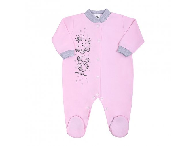 Dojčenský overal New Baby Kamaráti ružový