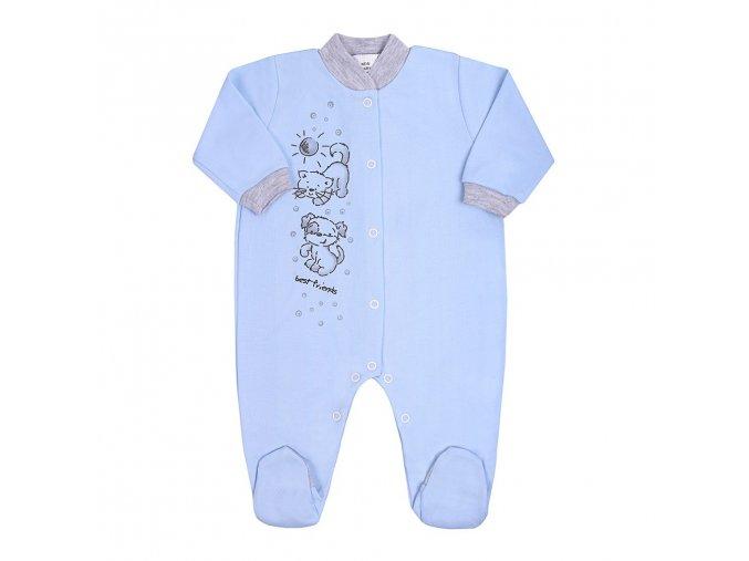 Dojčenský overal New Baby Kamaráti modrý