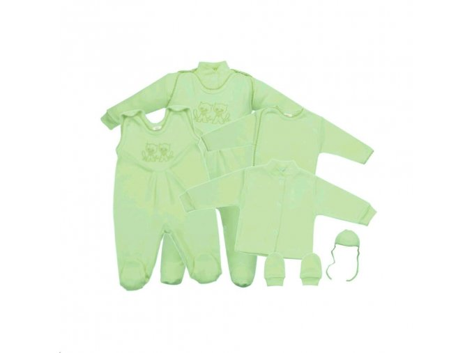 5-dielna súprava New Baby zelená