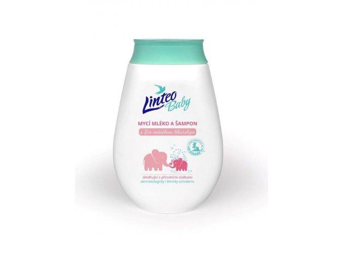 Detské umývacie mlieko a šampón Linteo Baby s nechtíkom lekárskym 250ml