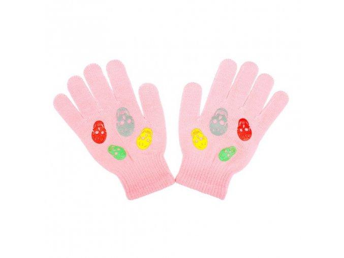 Detské zimné rukavičky New Baby Girl svetlo ružové