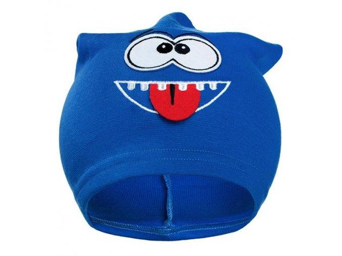 Jesenná detská čiapočka New Baby smejko modrá