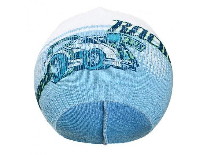 Jesenná detská čiapočka New Baby Racing bledo modrá