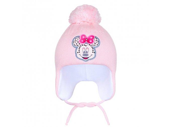 Zimná detská čiapočka New Baby Minnie svetlo ružová