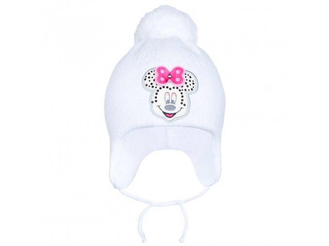 Zimná detská čiapočka New Baby Minnie biela