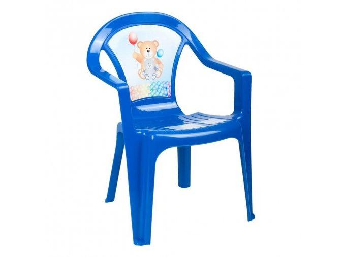 Detský záhradný nábytok - Plastová stolička modrá