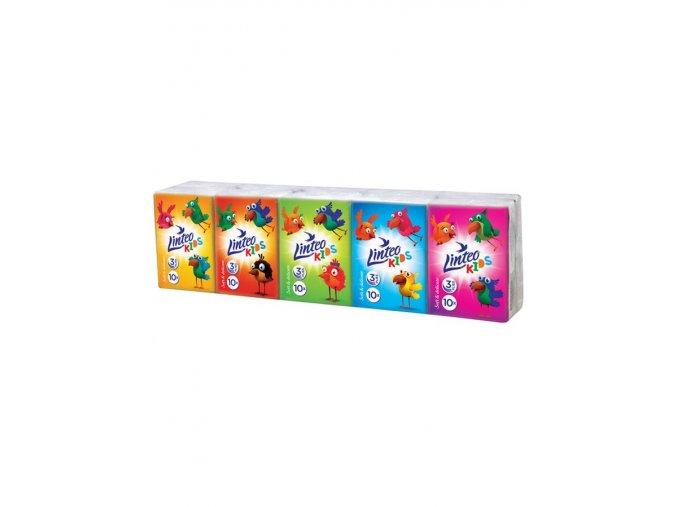 Papierové vreckovky Linteo Kids mini 10x10ks biele 3-vrstvové