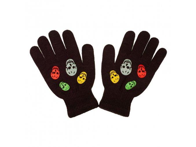 Detské zimné rukavičky New Baby Girl hnedé