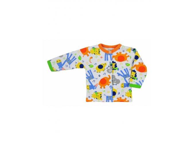 Dojčenský kabátik Bobas Fashion Zoo oranžový