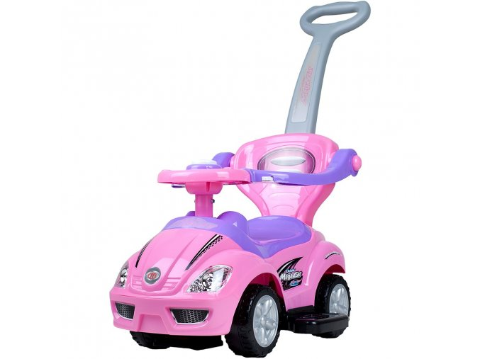 Detské Jazdítko 3v1 Bayo Mega Car pink