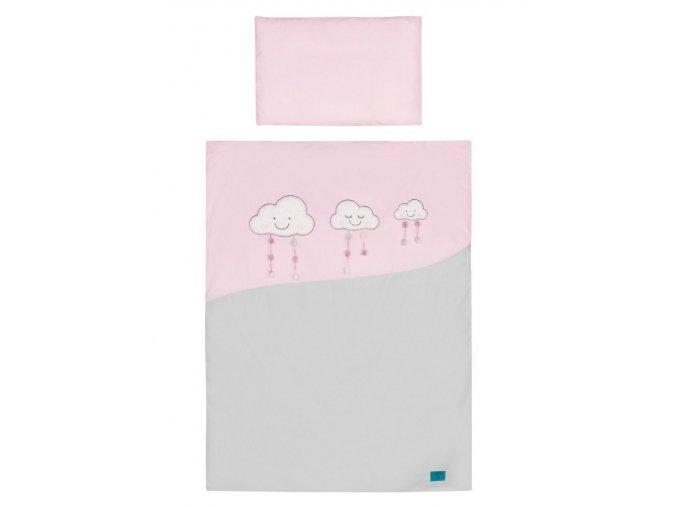 5-dielne posteľné obliečky Belisima Obláčiky 90/120 ružové