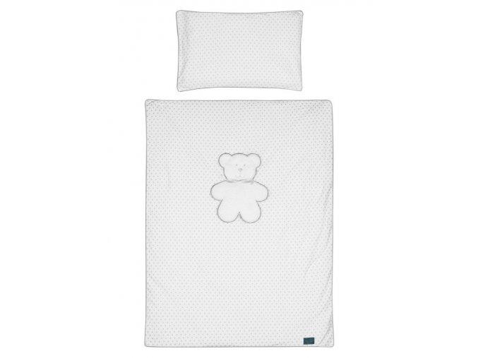 5-dielne posteľné obliečky Belisima Biely medvedík 100/135