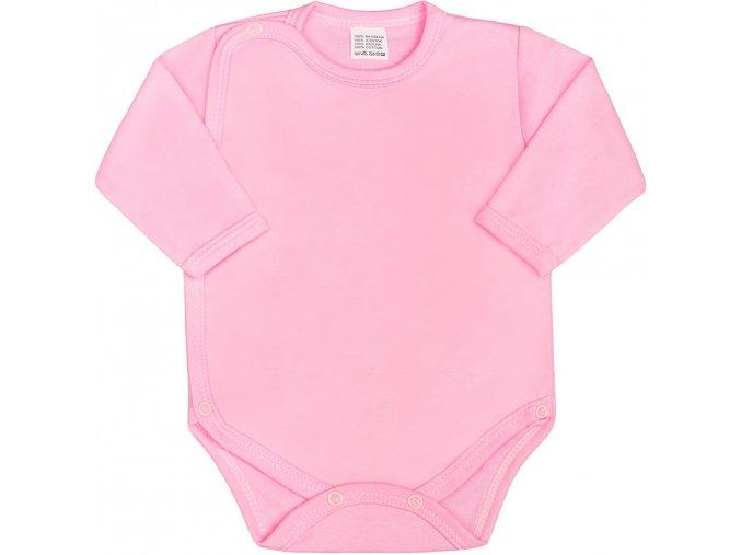 Dojčenské body celorozopínacie New Baby Classic ružové