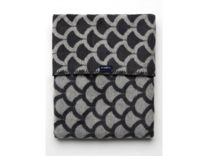 Detská bavlnená deka so vzorom Womar 75x100 sivo-grafitová