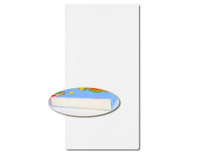 Detský penový matrac New Baby KLASIK 140x70x6 biely