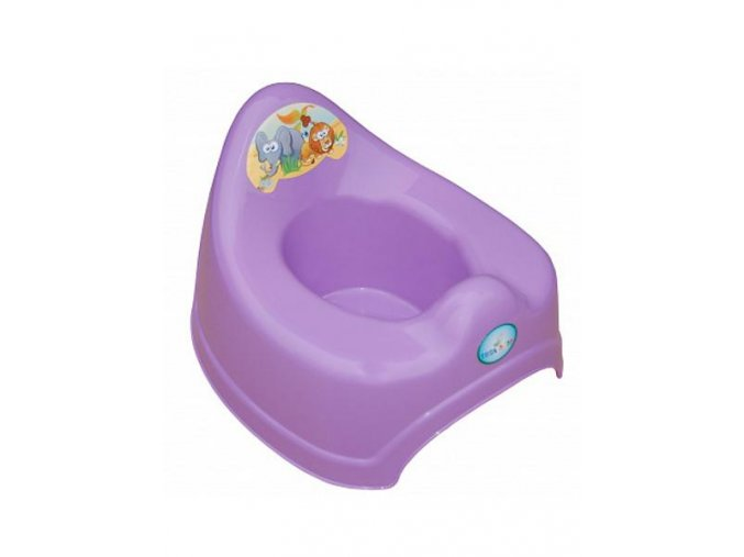 Hrajúci detský nočník safari fialový