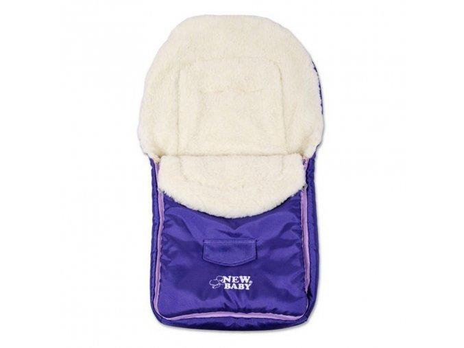 Zimný fusak New Baby Classic Wool violet