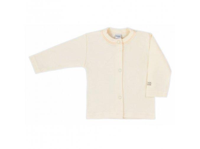 Dojčenský kabátik Bobas Fashion Mini Baby smotanový