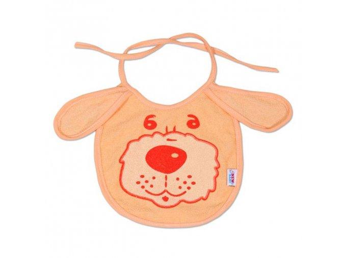 Detský podbradník New Baby oranžový