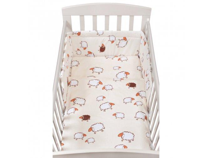 2-dielné posteľné obliečky New Baby 90/120 cm sheep  béžové